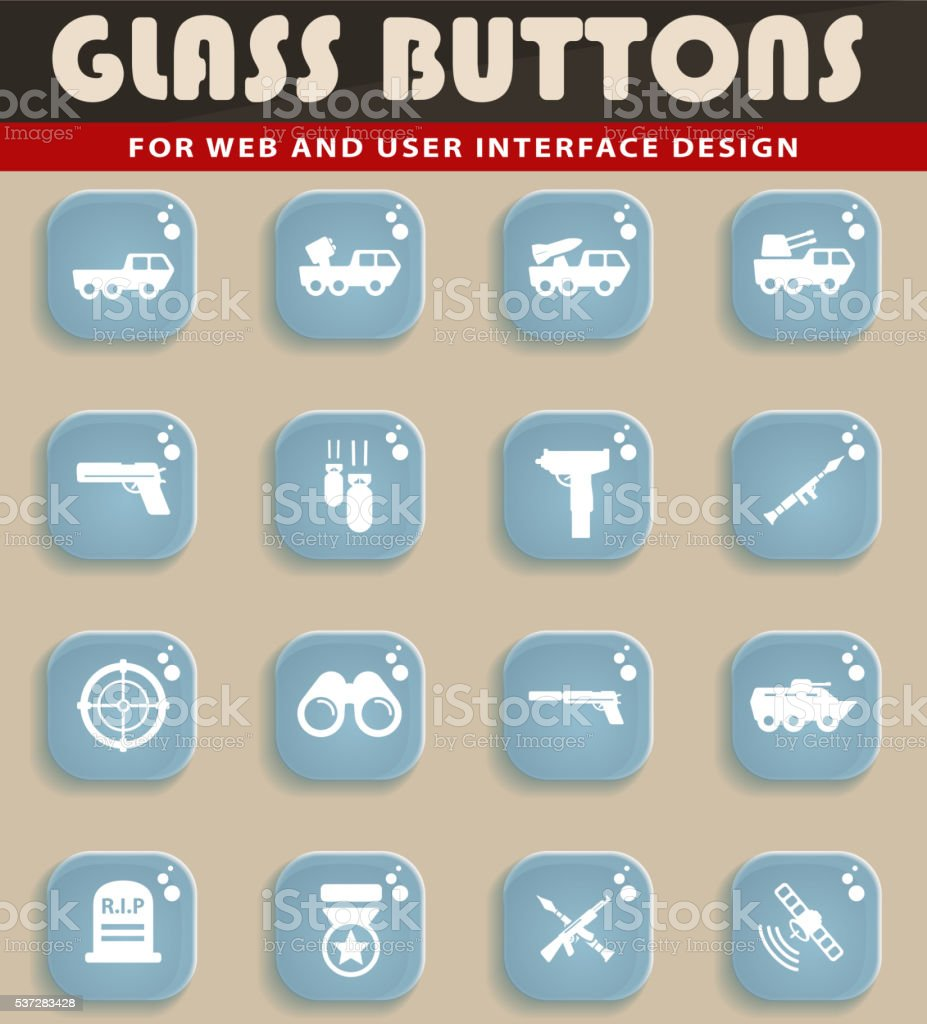 Military simply icons vector art illustration