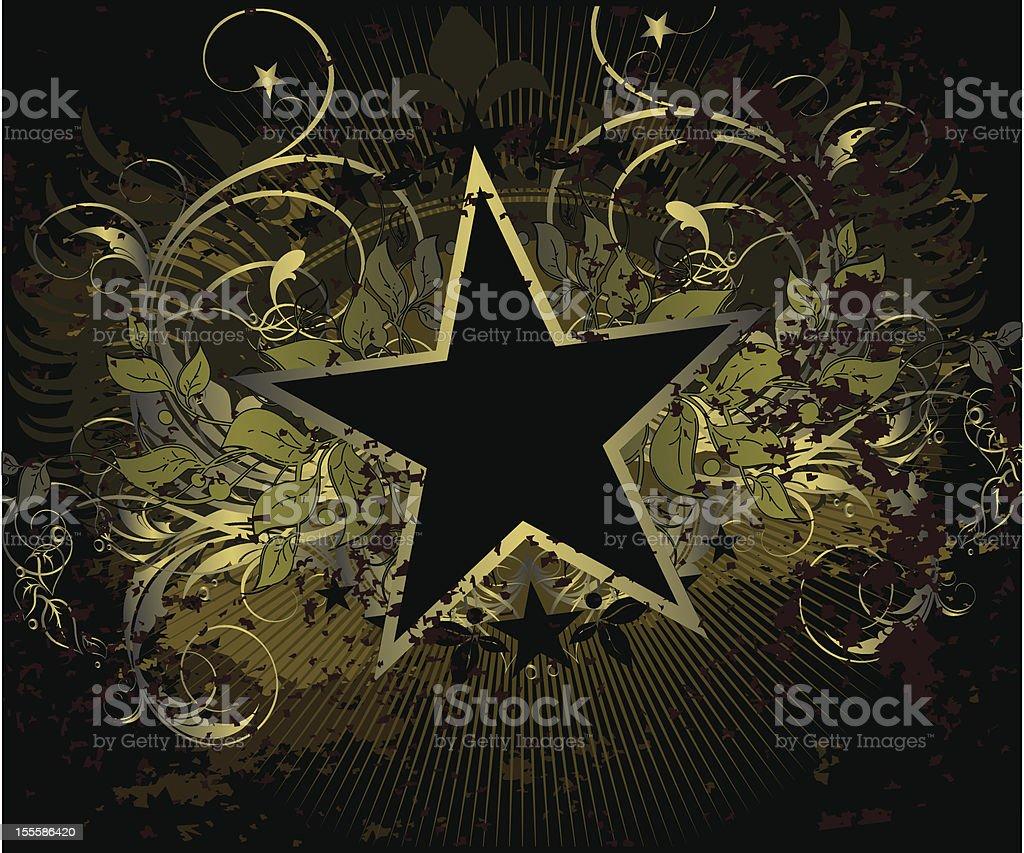 military stile star background royalty-free stock vector art