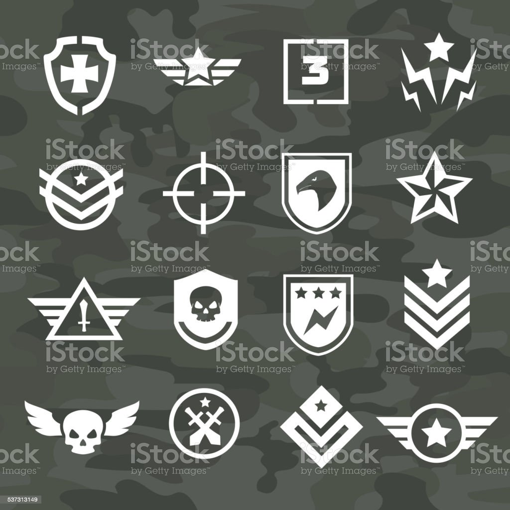 Military symbol icons and logos special forces vector art illustration