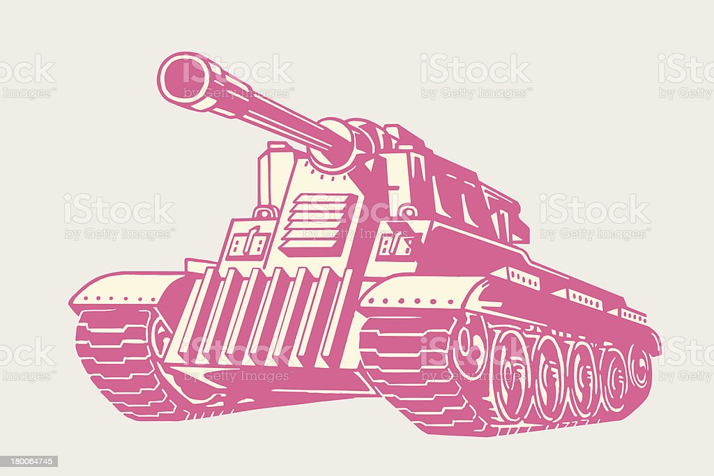 Military Tank vector art illustration