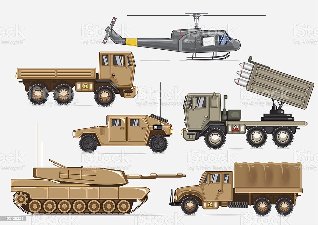 Military transport vector art illustration