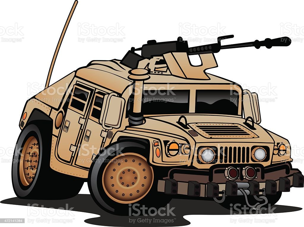 Military Truck Illustration vector art illustration