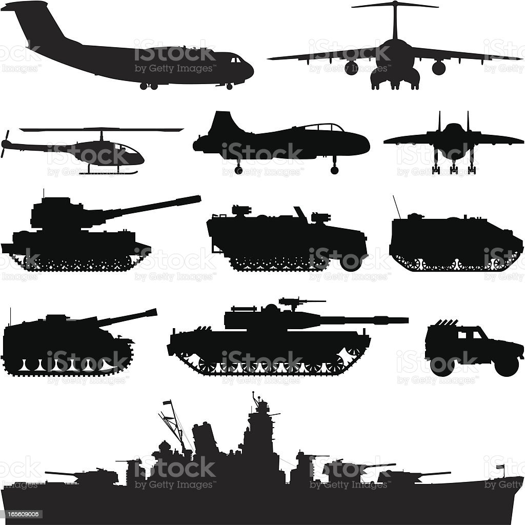 Military royalty-free stock vector art