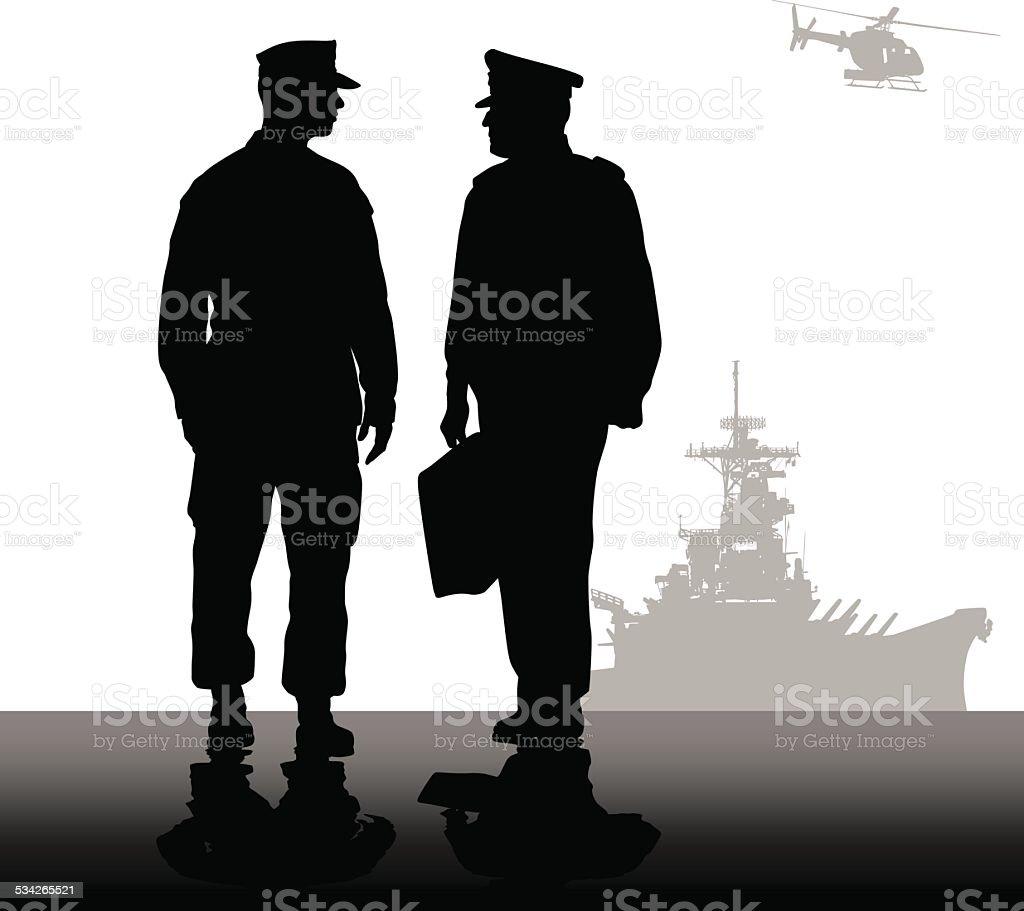 MilitaryStrategy vector art illustration