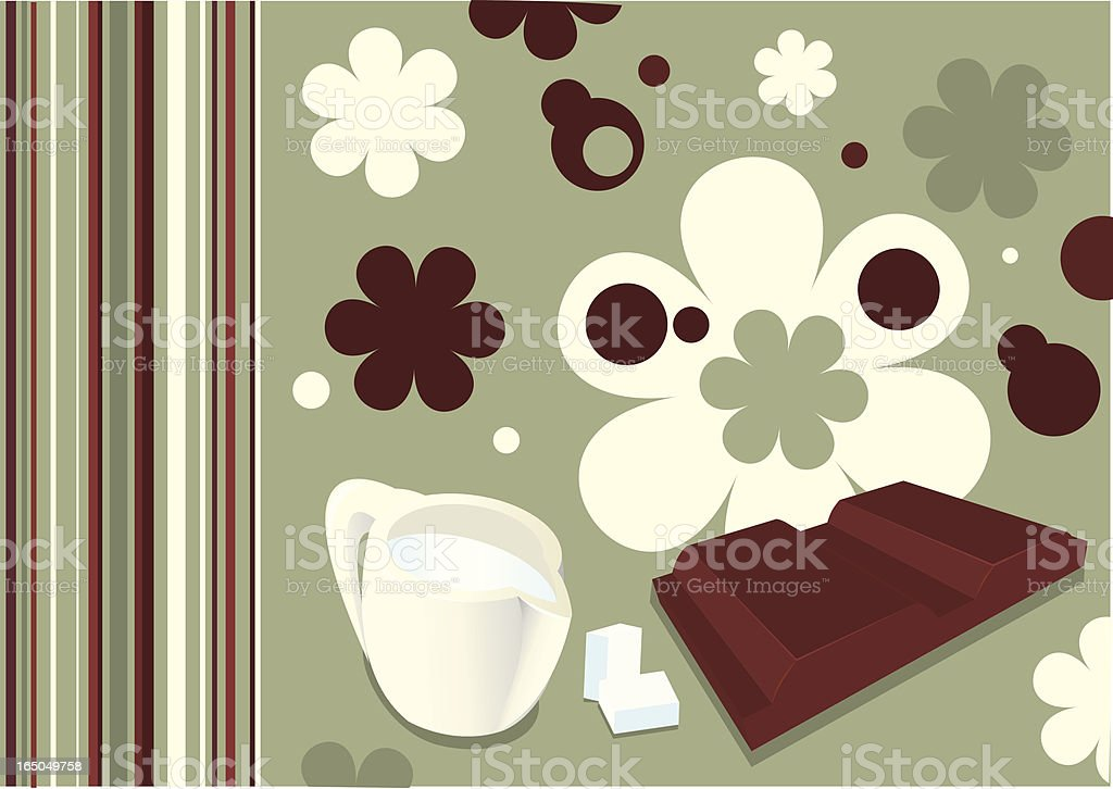 milk and chocolate royalty-free stock vector art