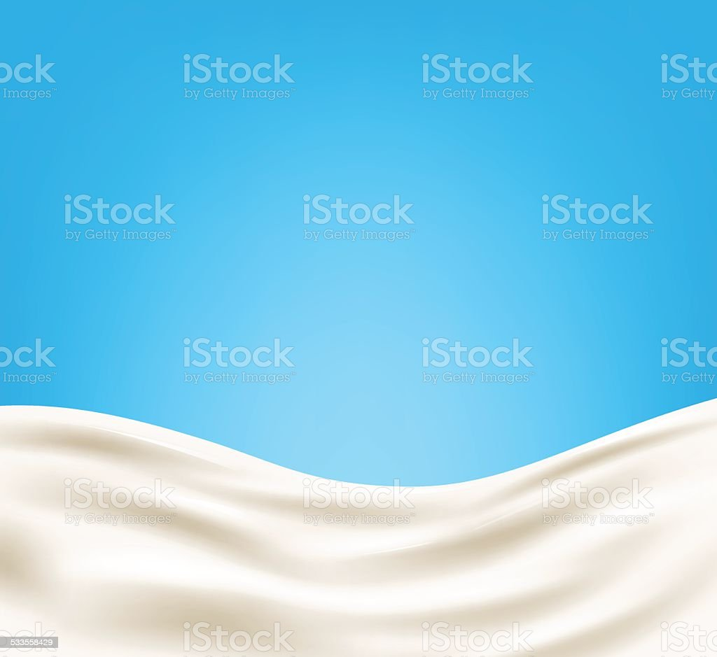 Milk background vector art illustration