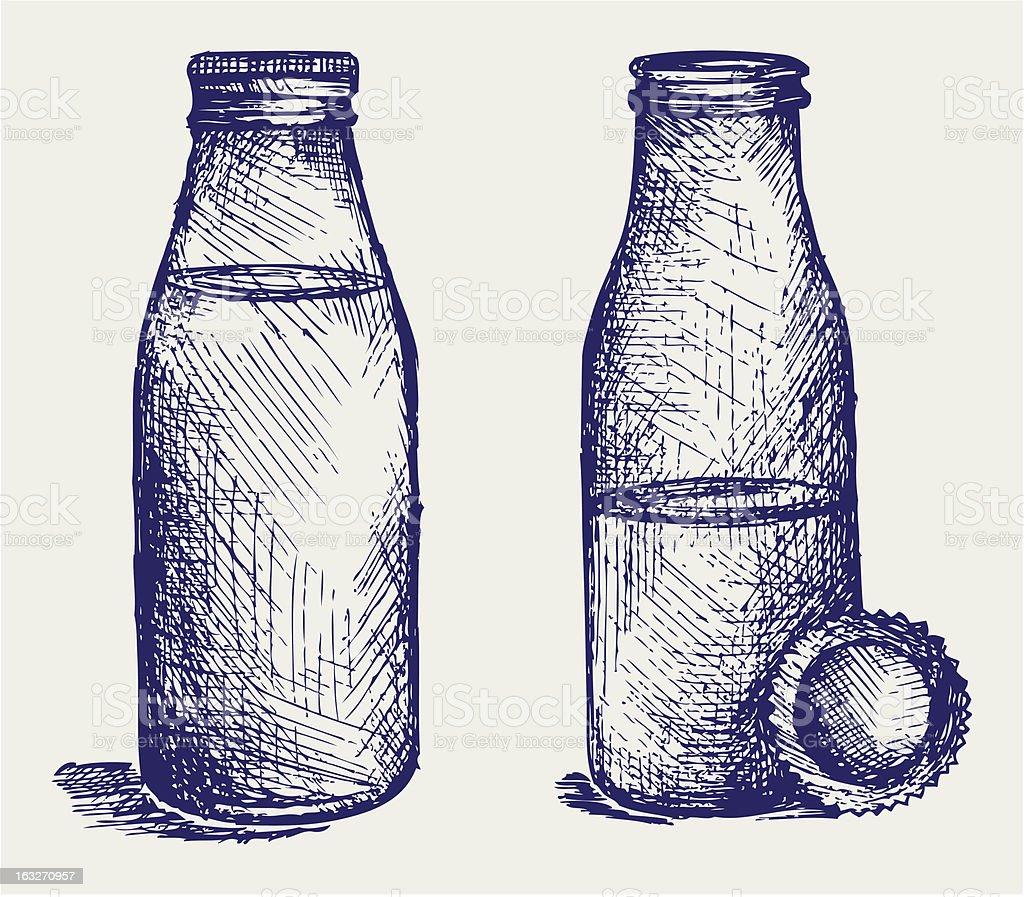 Milk bottle royalty-free stock vector art