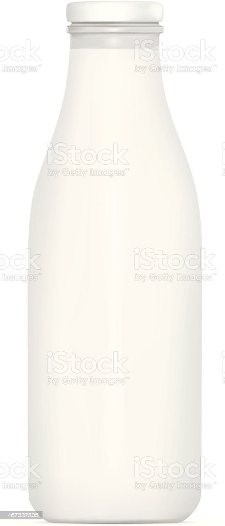 Milk Bottle vector art illustration