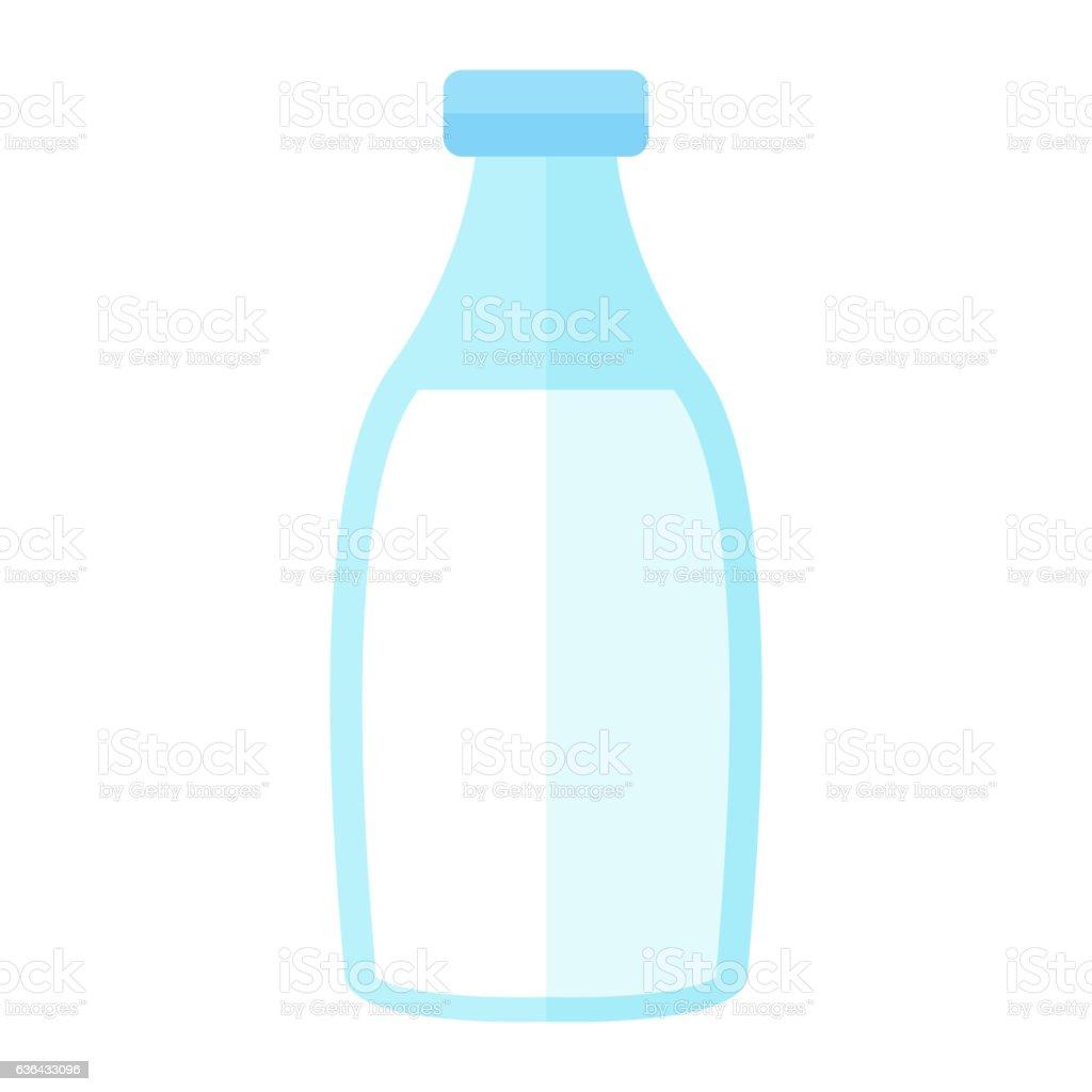 Milk bottle vector illustration. vector art illustration