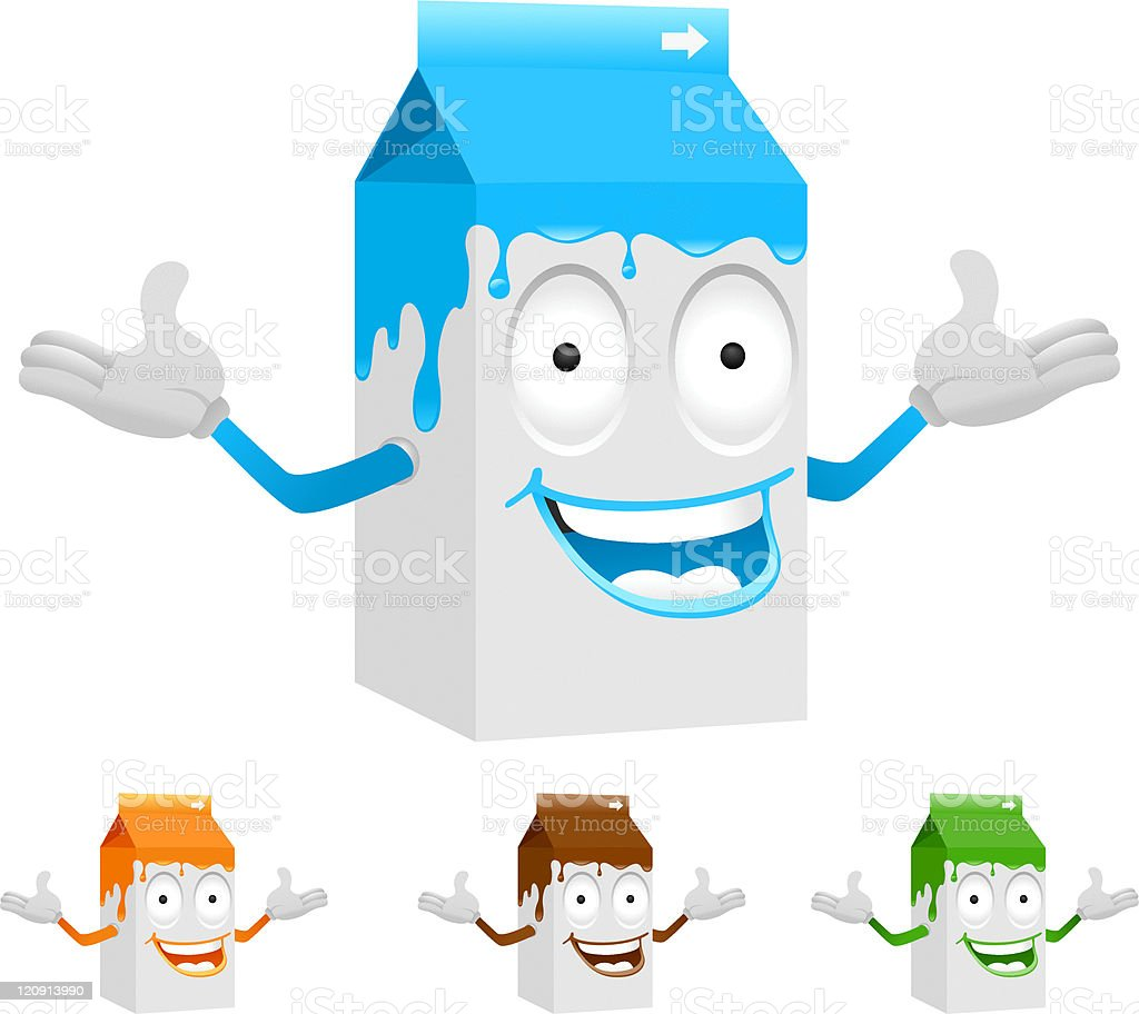 milk carton character royalty-free stock vector art