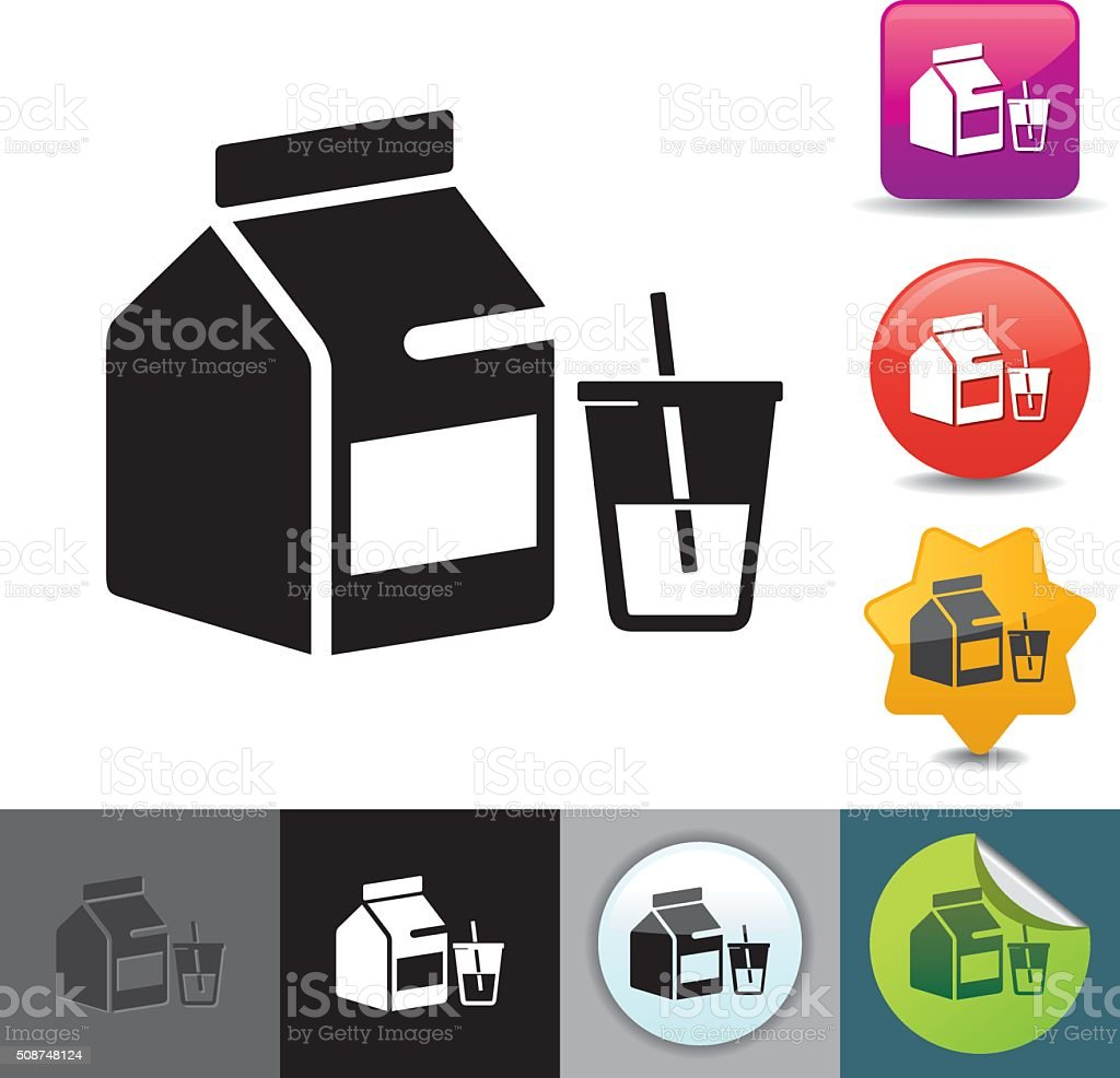 Milk carton icon | solicosi series vector art illustration