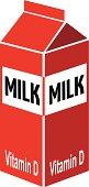 milk carton in color