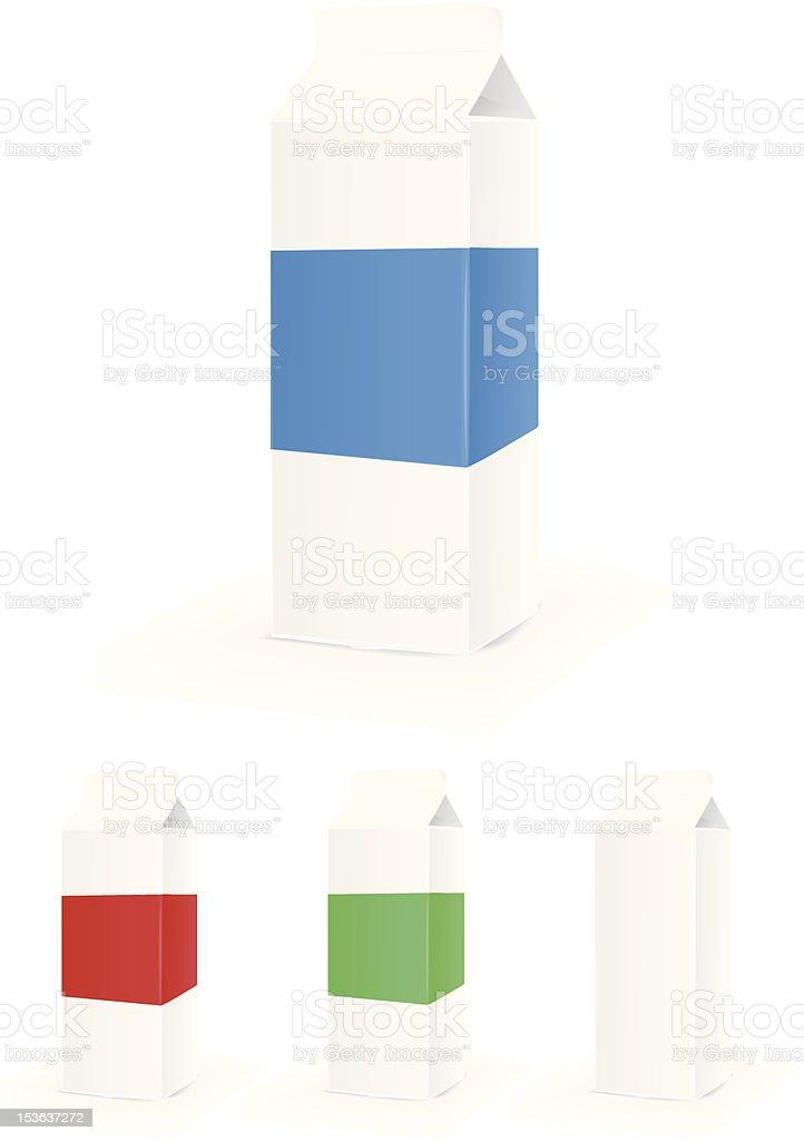 Milk Carton vector art illustration