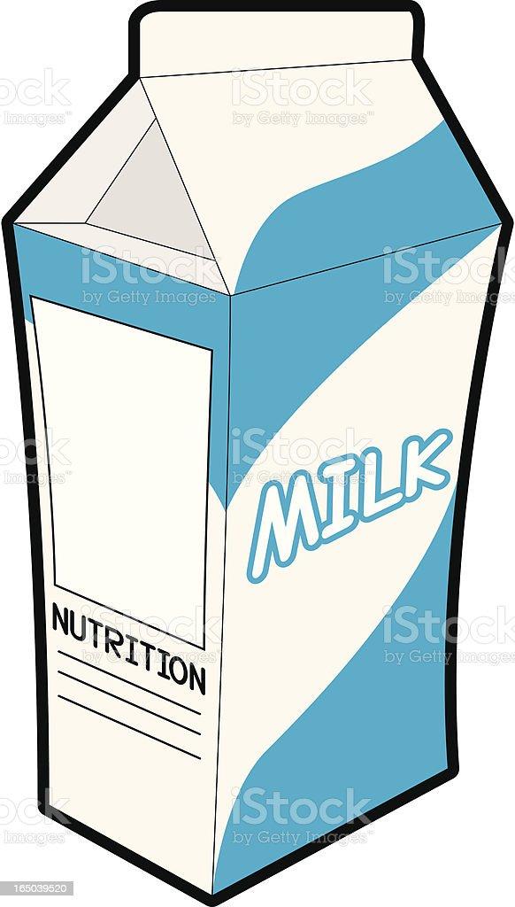 Milk Carton royalty-free stock vector art