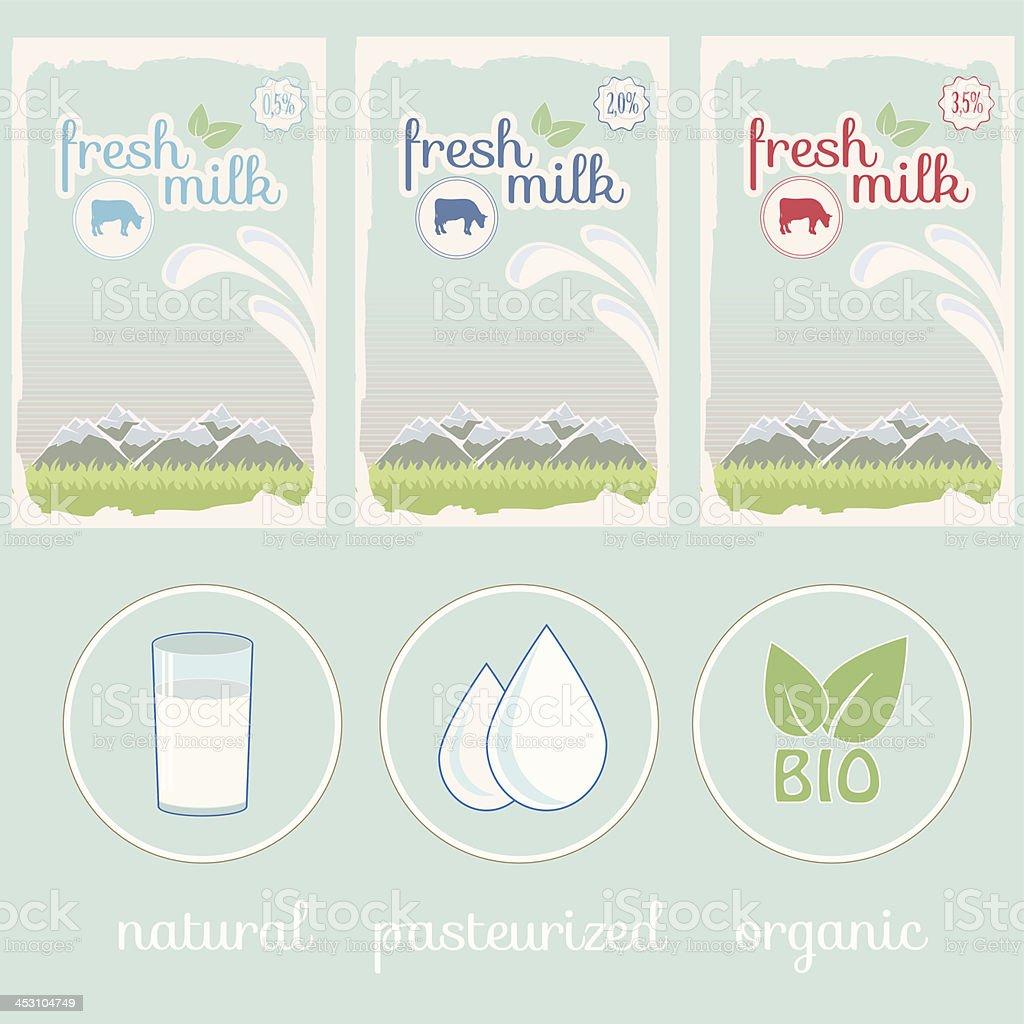 milk, label, background packaging design royalty-free stock vector art