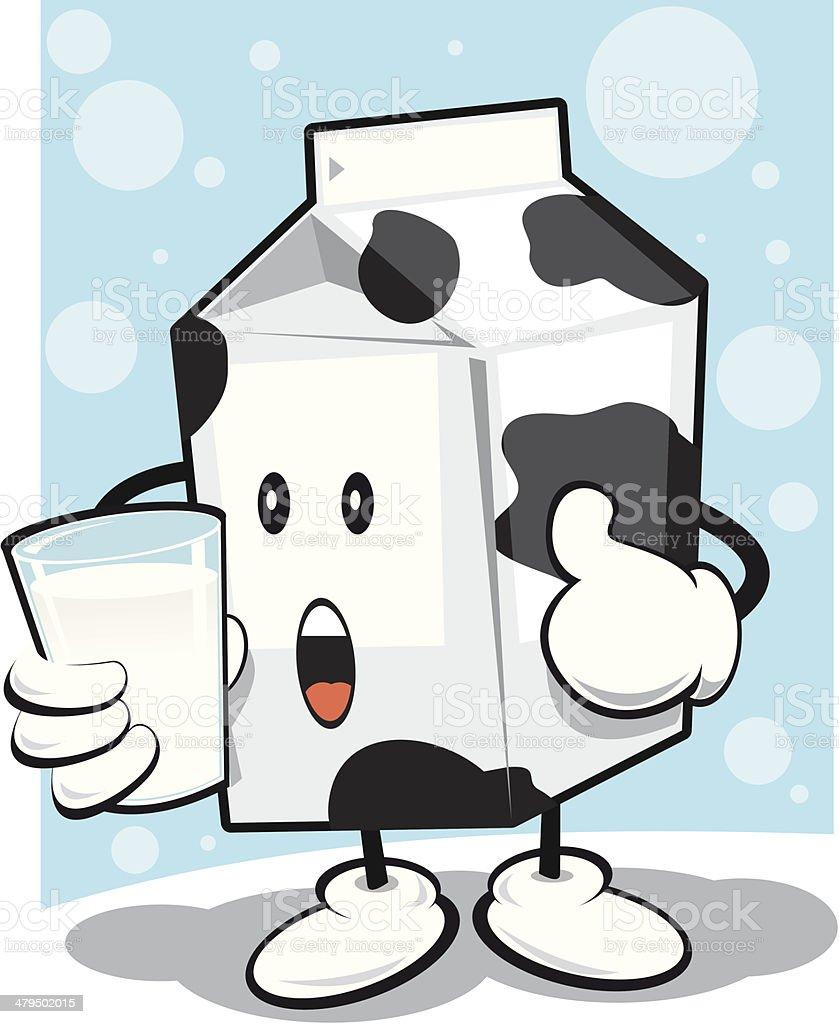Milk Man vector art illustration