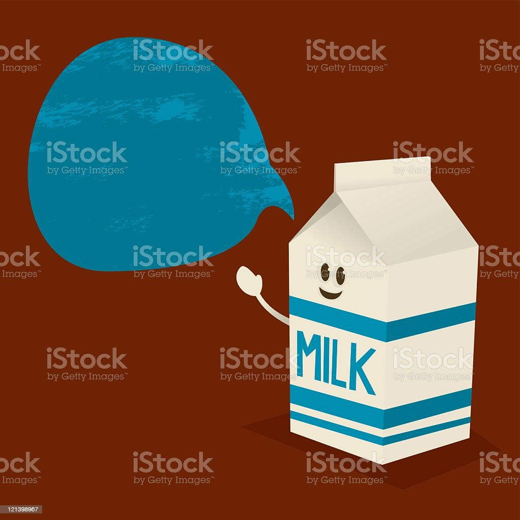 Milk Message royalty-free stock vector art