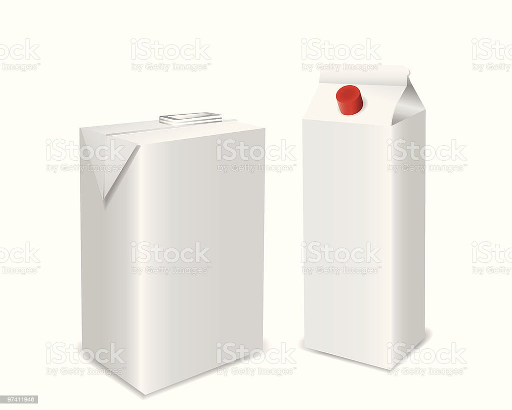 Milk Or Juice Pack royalty-free stock vector art
