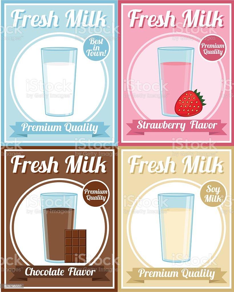 Milk Poster vector art illustration