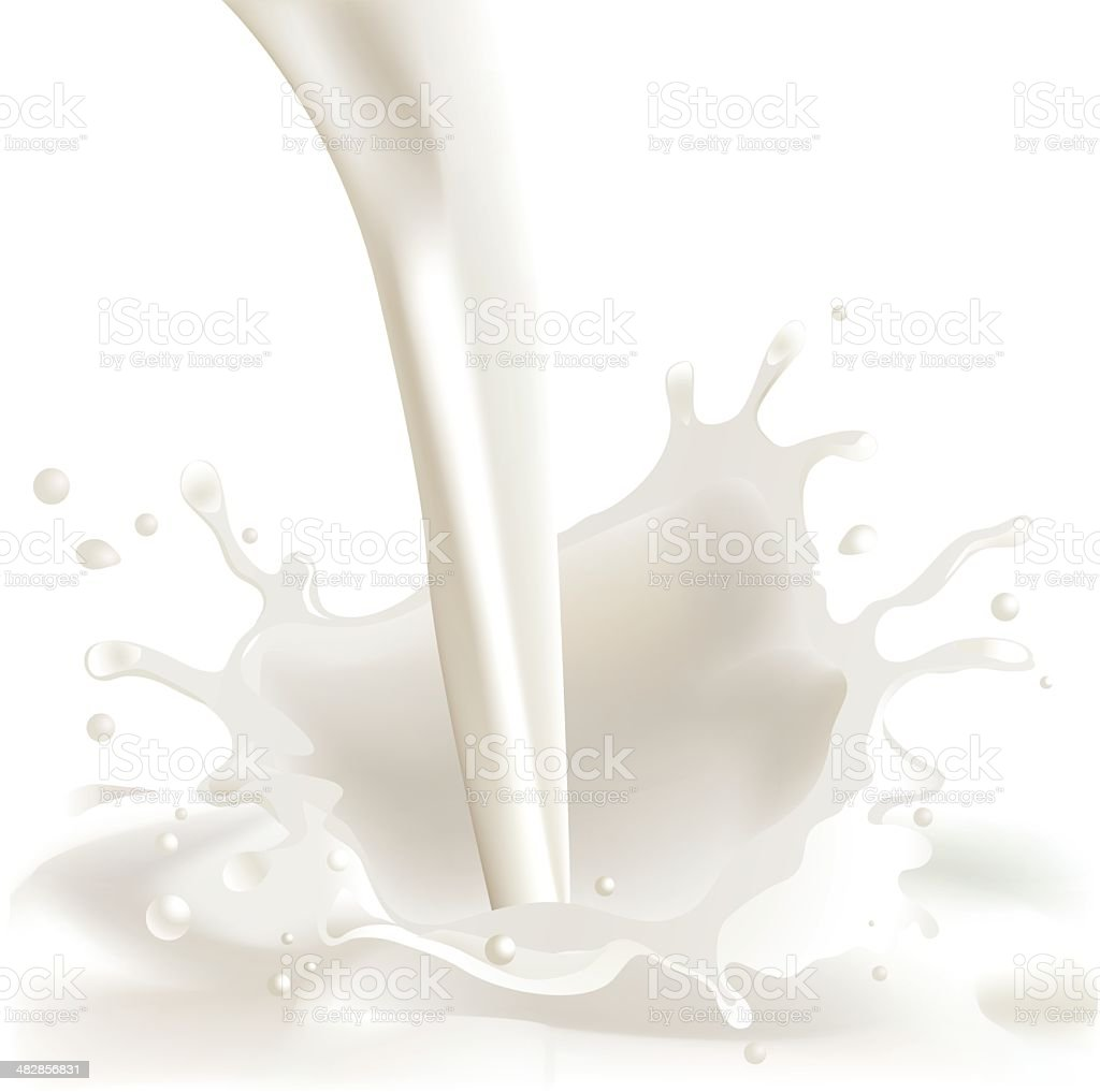 Milk Splash vector art illustration