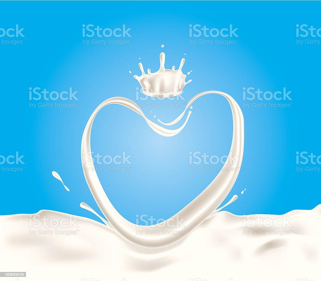 Milk splash royalty-free stock vector art