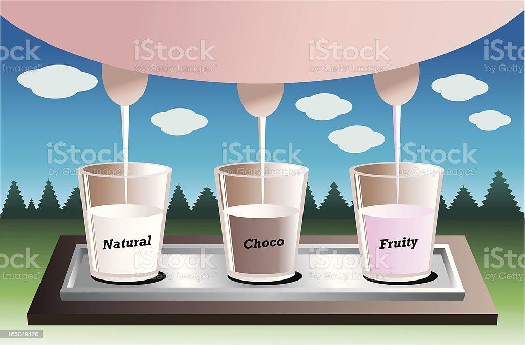 milk variety vector art illustration