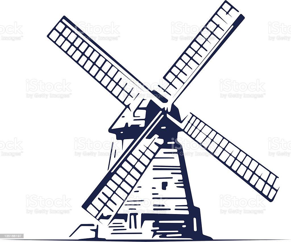 mill building icon vector art illustration
