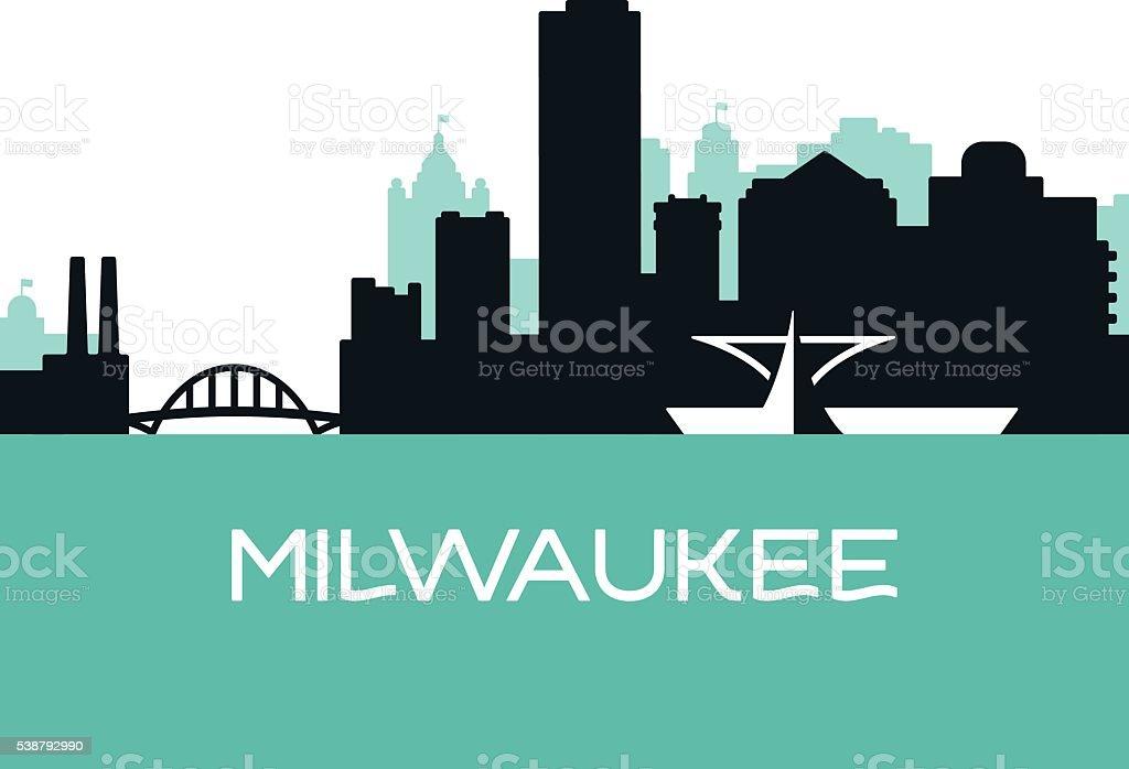 Milwaukee Skyline vector art illustration