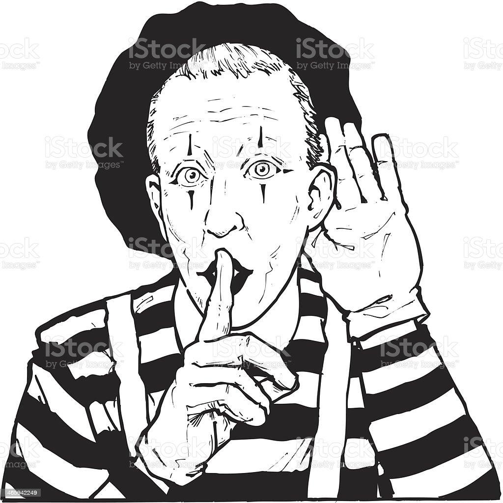 Mime vector art illustration