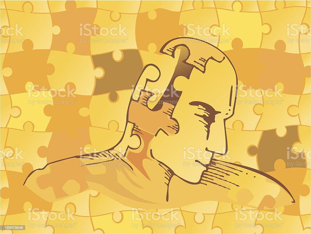 mind complexity vector art illustration
