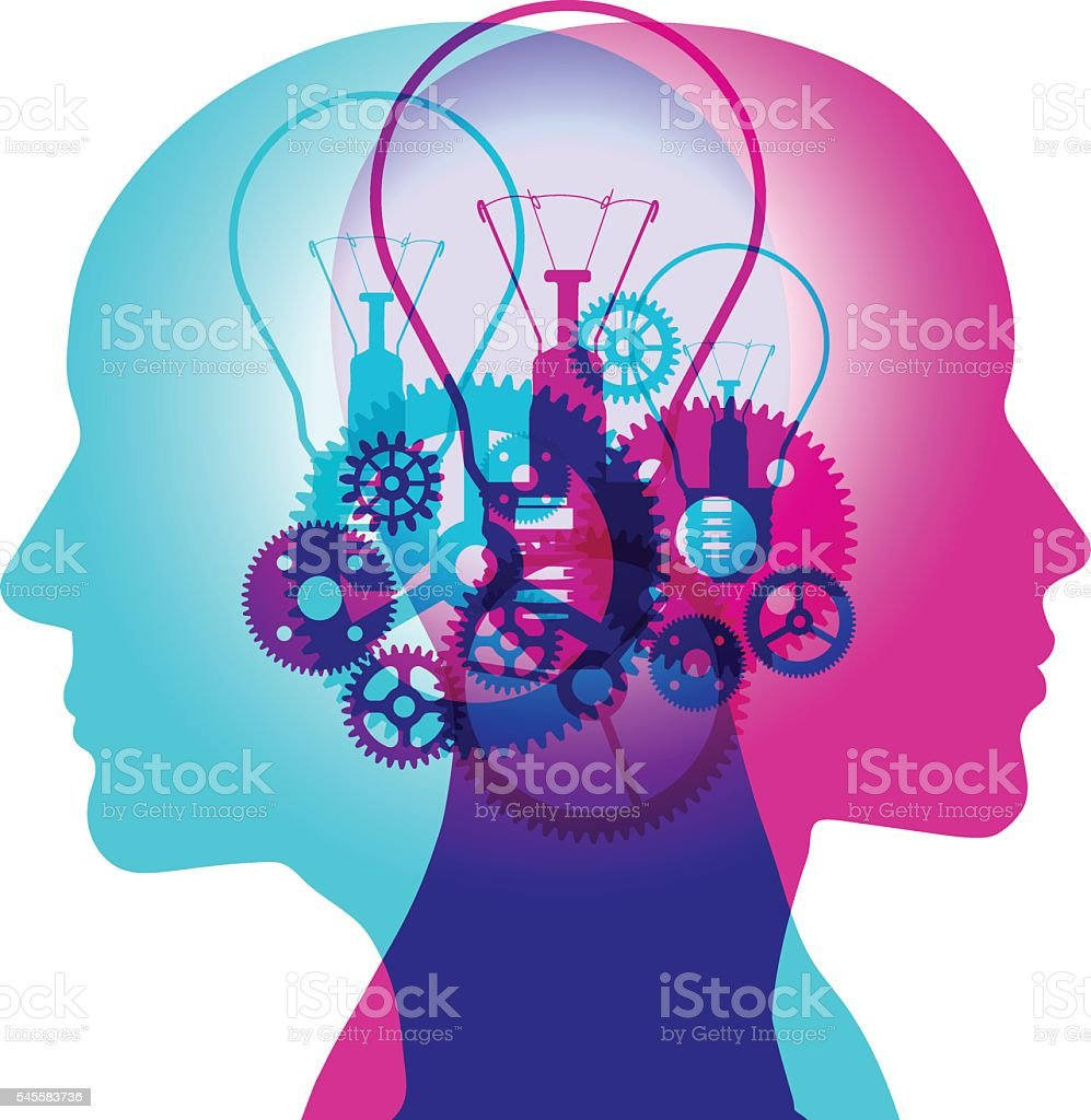 Mind Creation vector art illustration