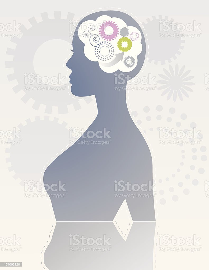 Mind Gears royalty-free stock vector art