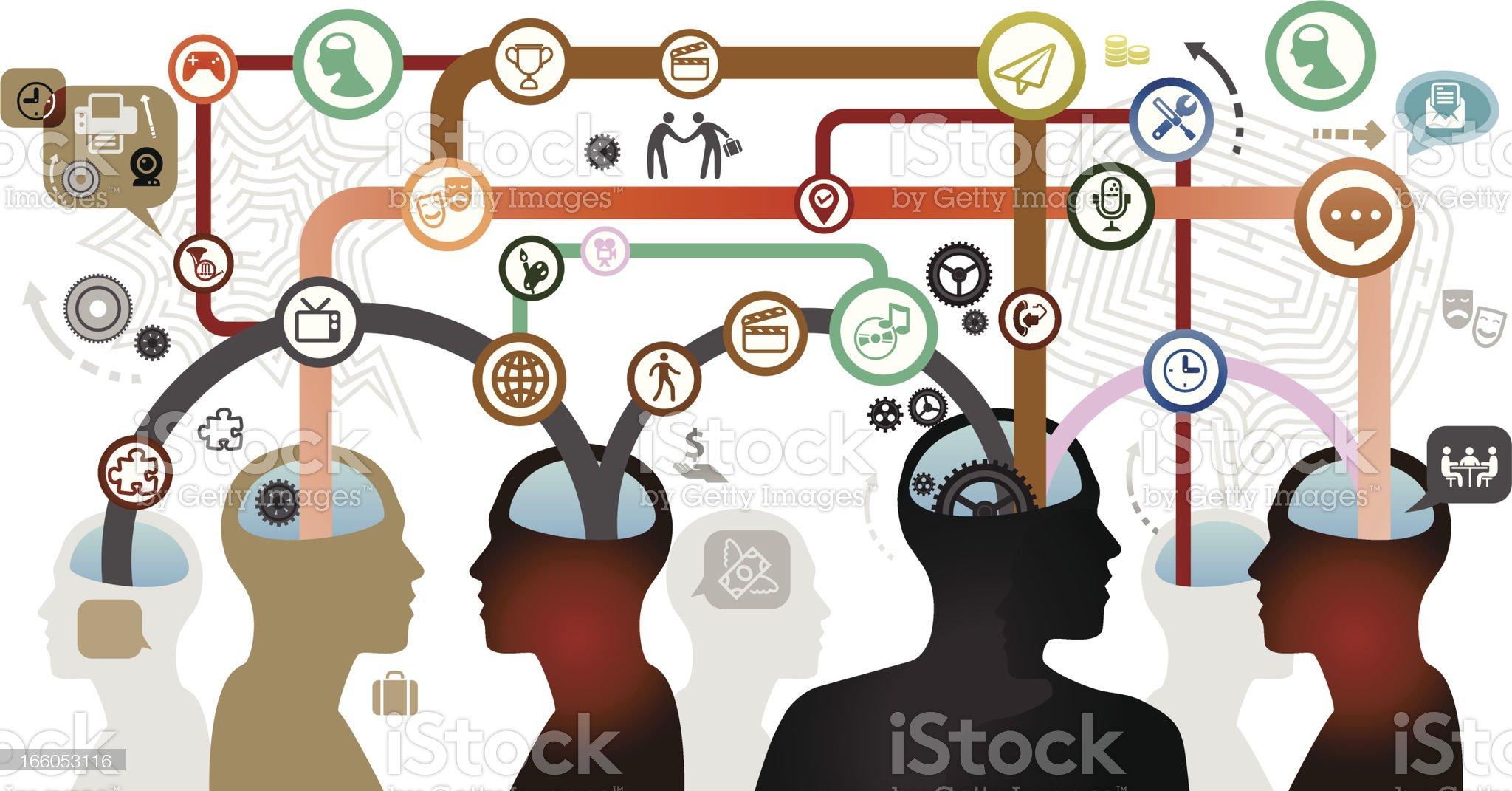 Mind Map Team royalty-free stock vector art