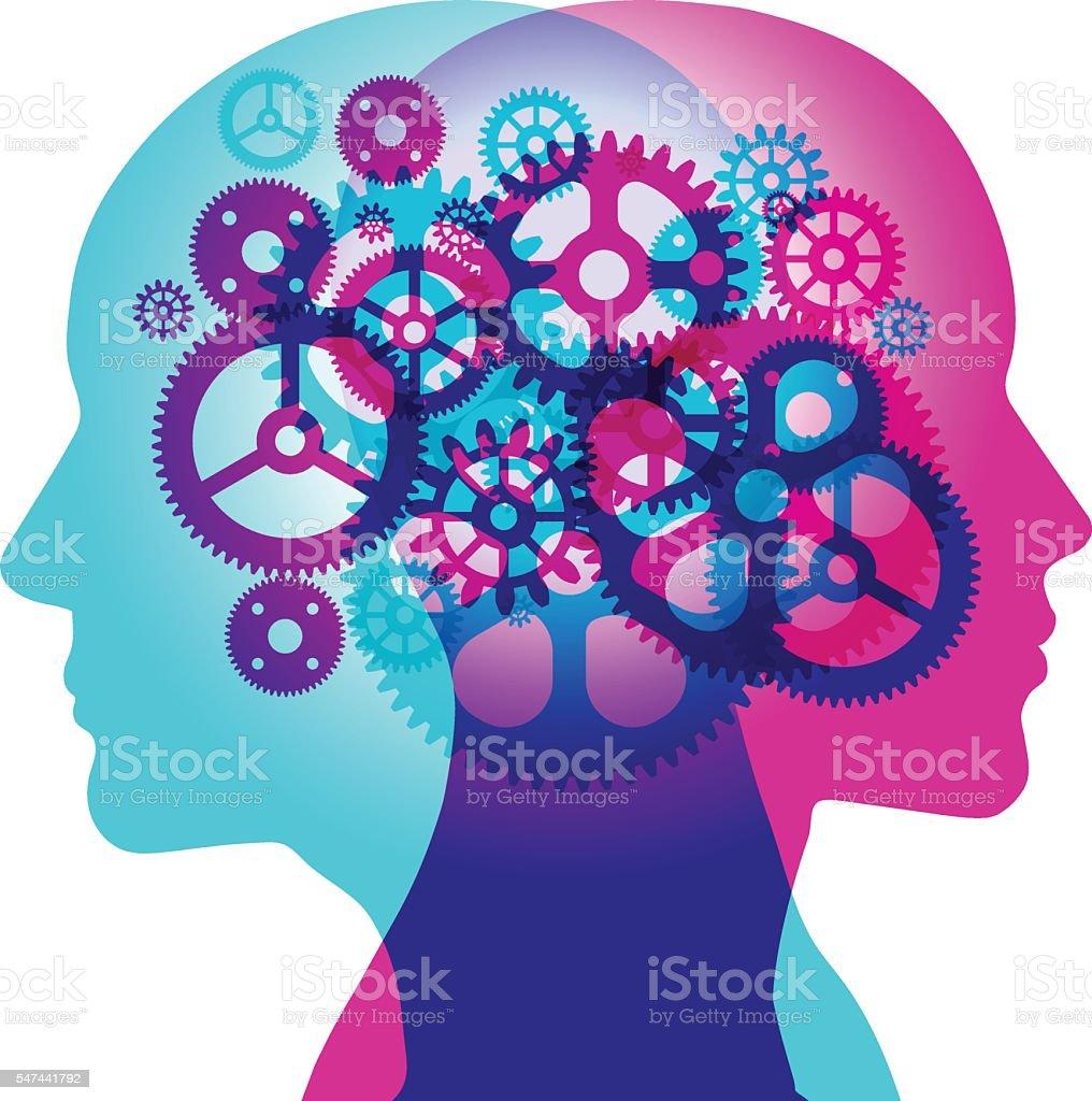 Mind Work vector art illustration