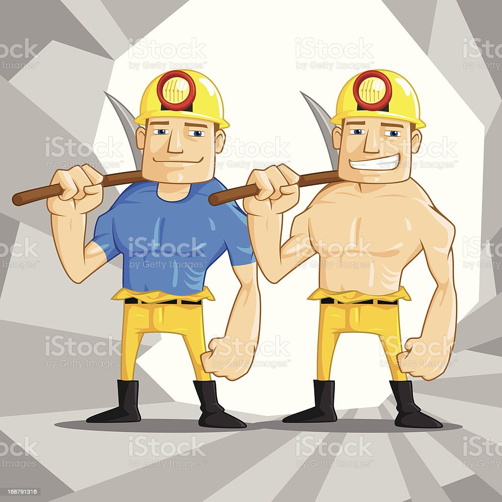 Mine Worker royalty-free stock vector art