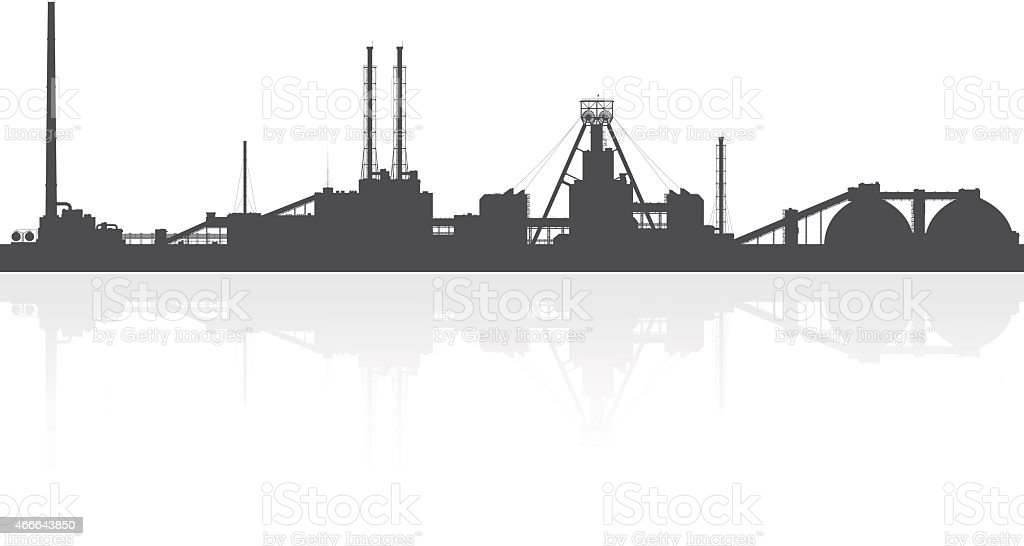 Mineral fertilizers plant isolated on white background. vector art illustration