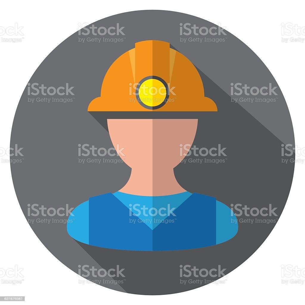 Miners Icon vector art illustration