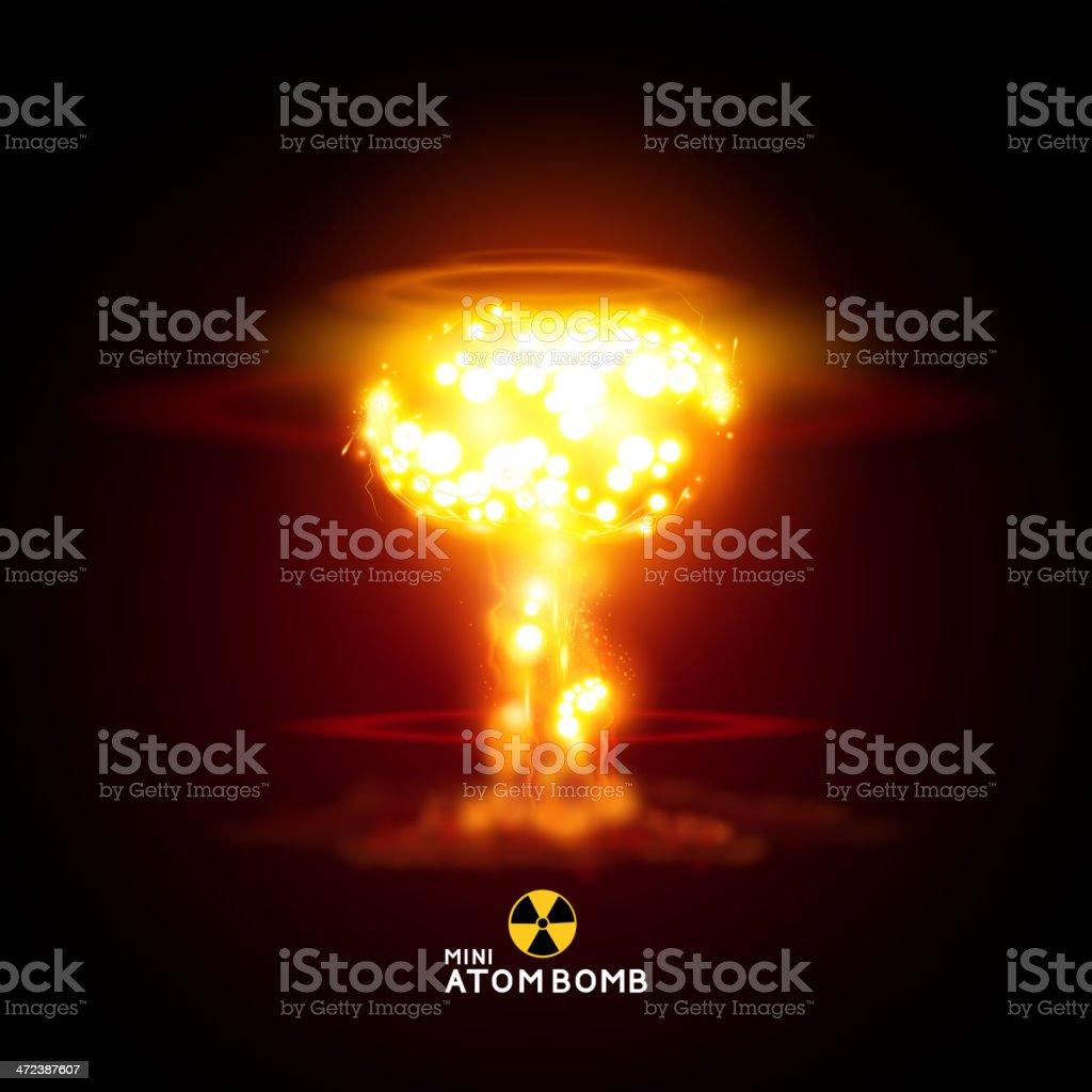 Mini Atom Bomb vector art illustration