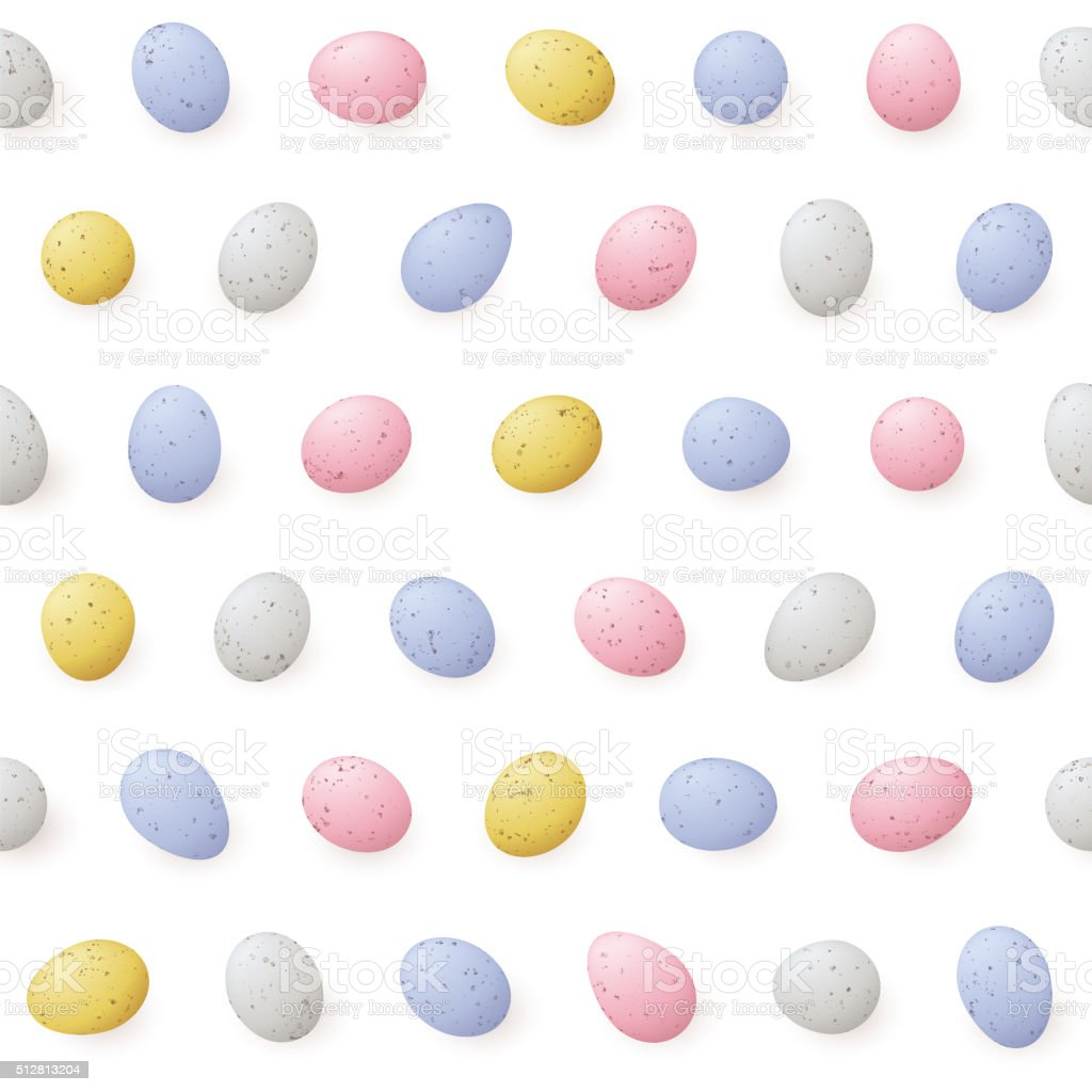 Mini Easter Eggs - Seamless Pattern vector art illustration