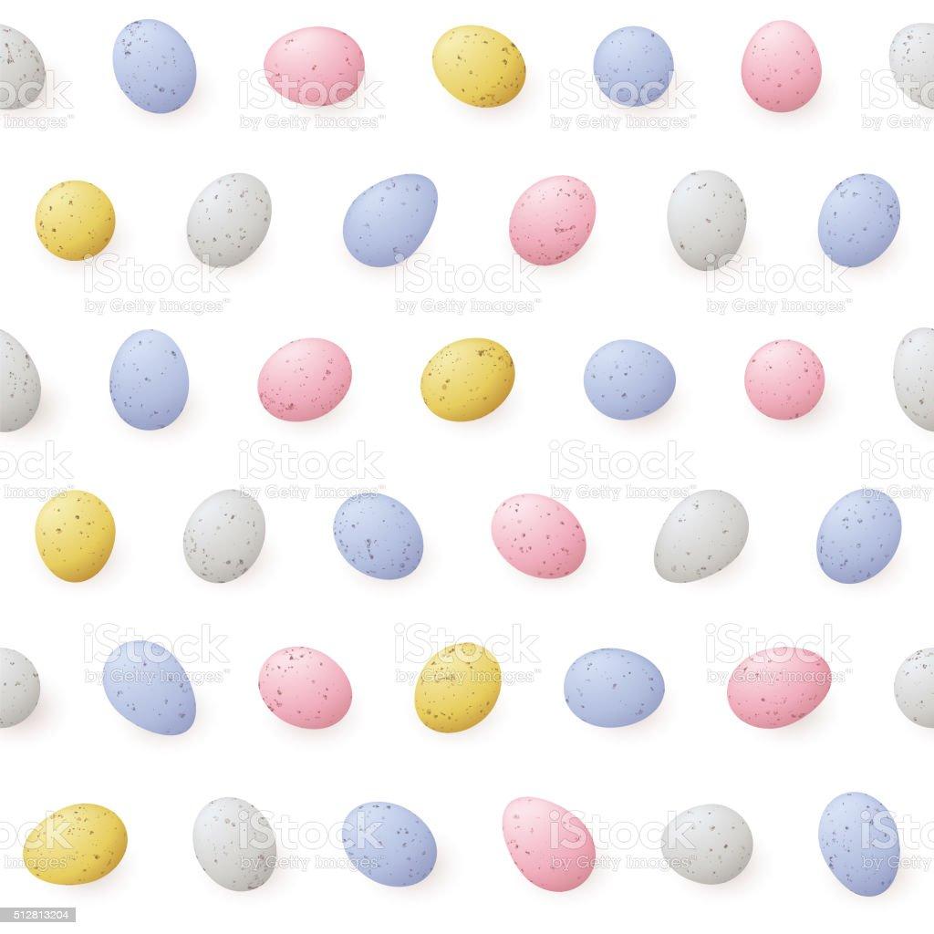 Mini Easter Eggs - Seamless Pattern vector art illustration