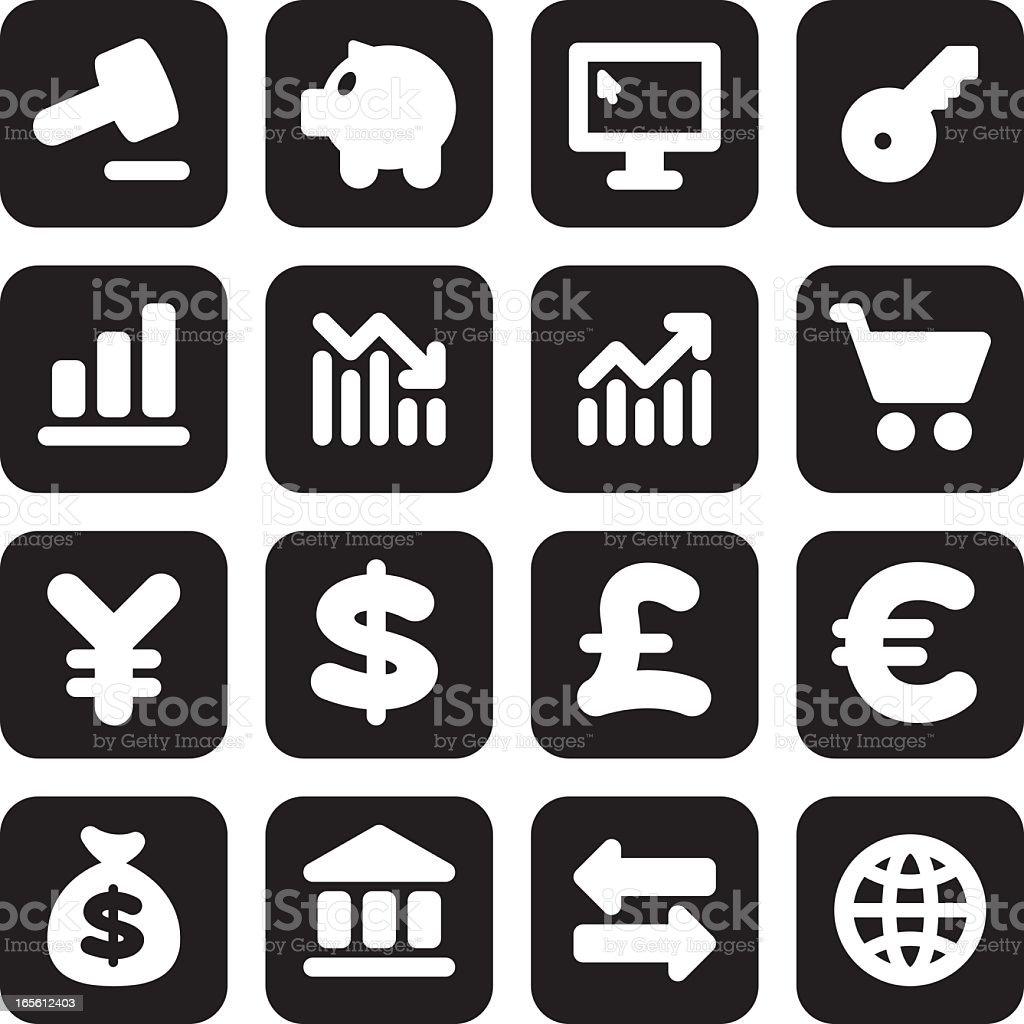 Mini Finance Icons royalty-free stock vector art