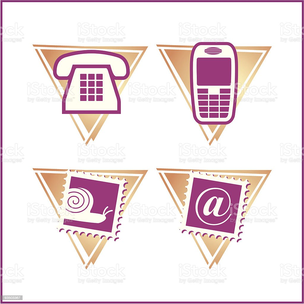 COMMUNICATION: Mini Icon Set 04 - Version 3 royalty-free stock vector art