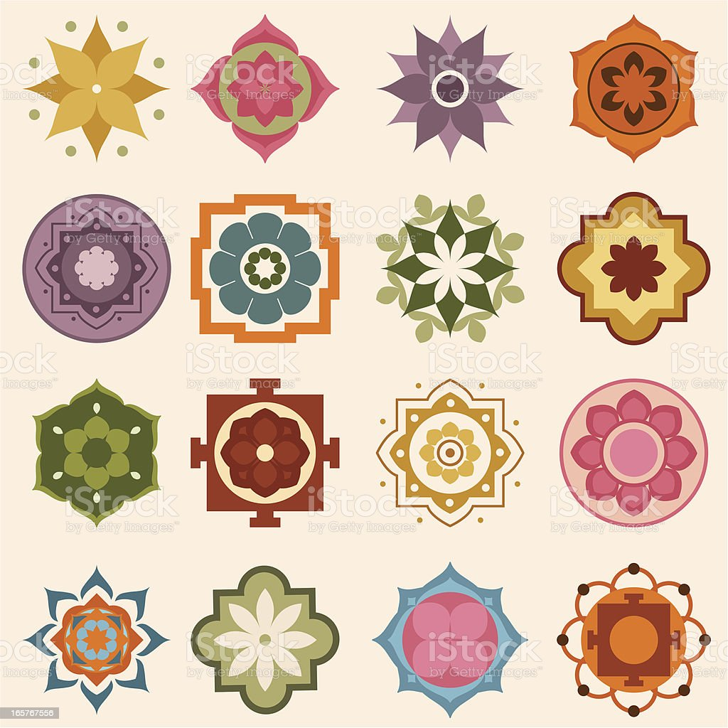 Mini Mandalas vector art illustration