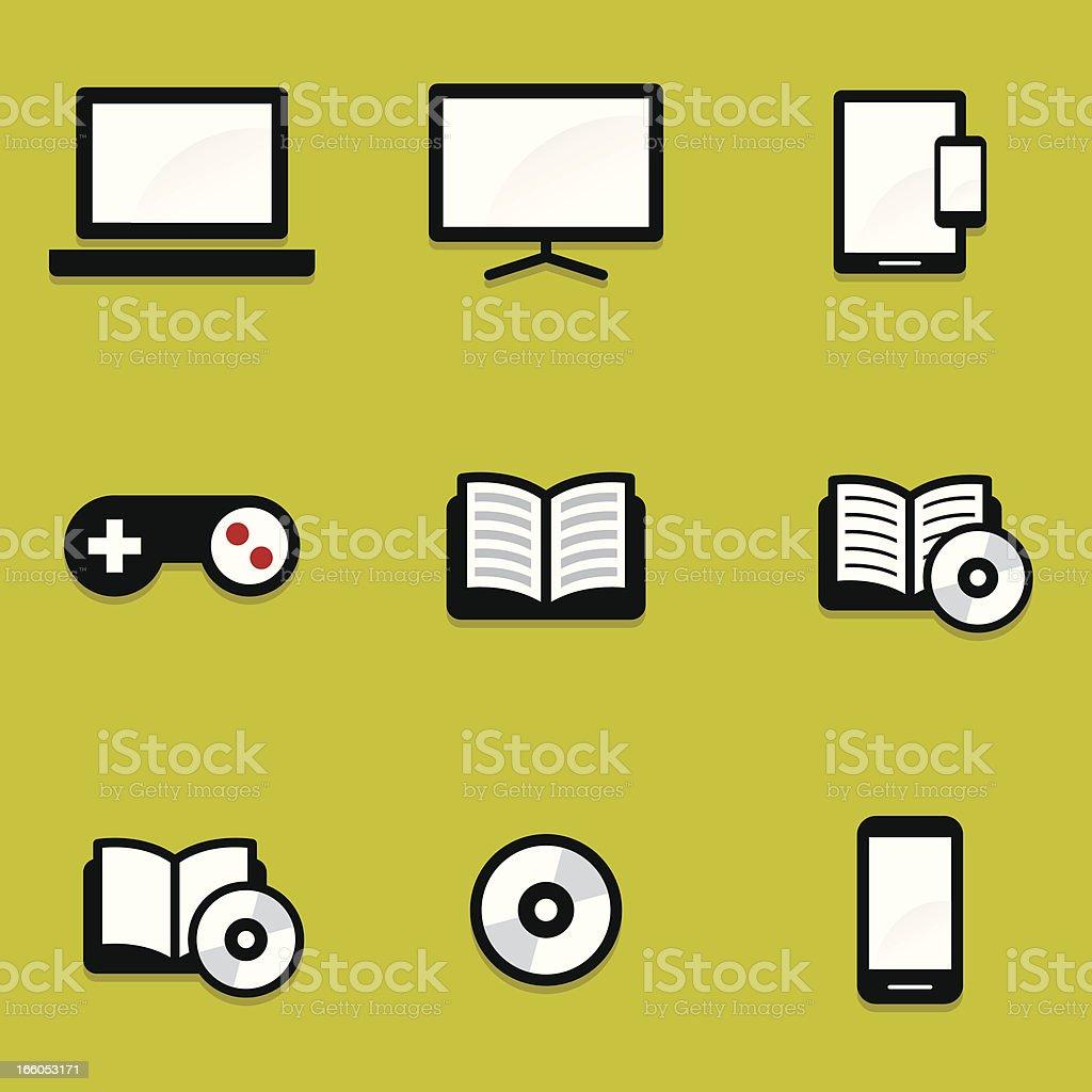 Mini Media icons royalty-free stock vector art
