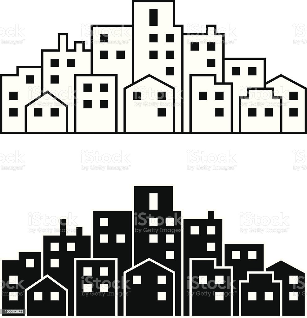 Mini Metropolis vector art illustration