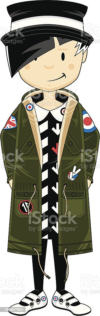 Mini Mod Girl in Parka royalty-free stock vector art