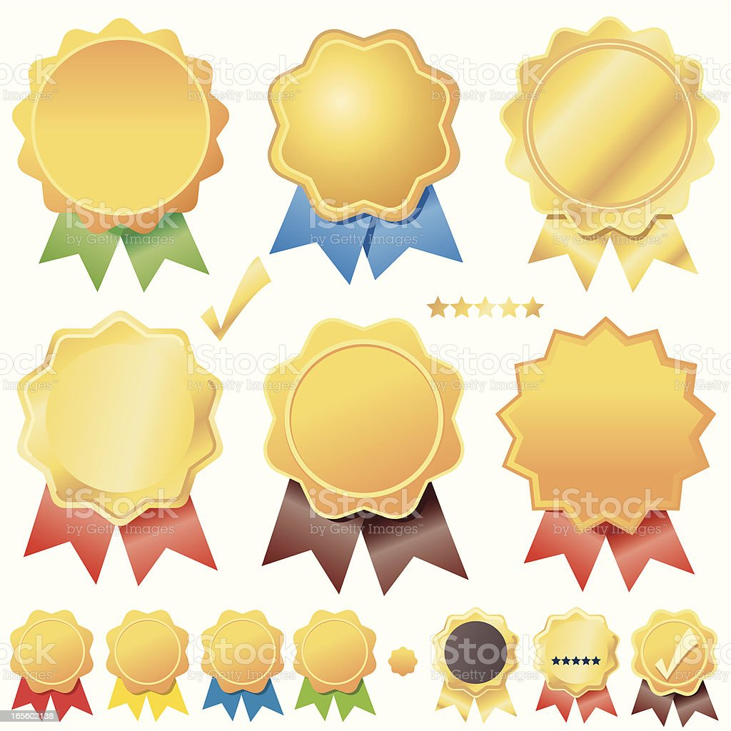 Mini Seal of Approvals royalty-free stock vector art