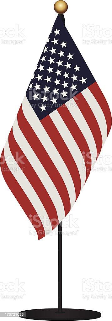 Miniature Flag of USA vector art illustration
