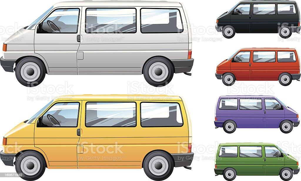 Minibus royalty-free stock vector art