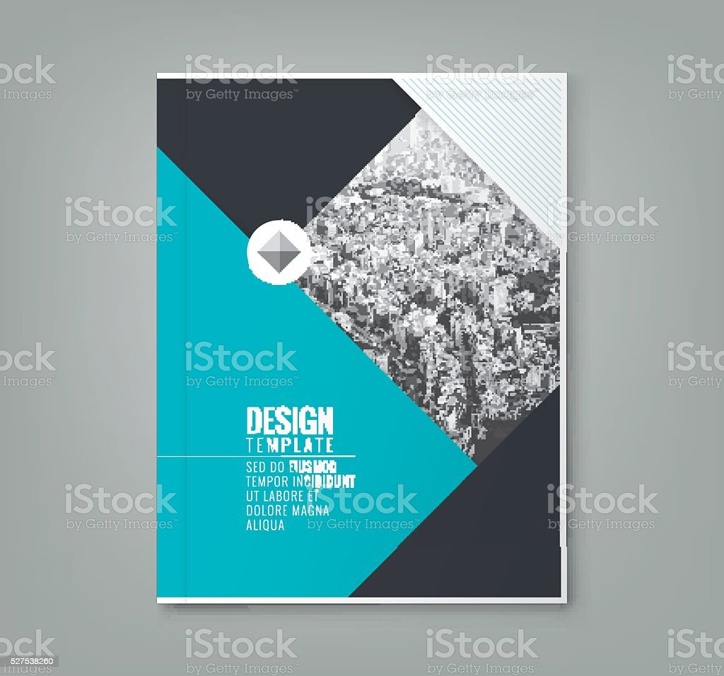 minimal blue color design layout template background vector art illustration